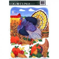 Thanksgiving Window Clings, Stickers or Decals