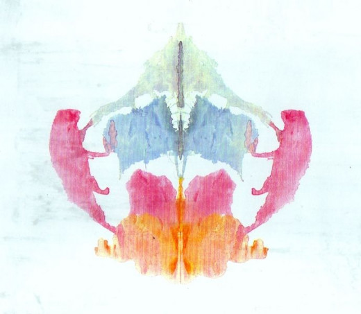 Normalized Rorschach Ink Blot #8 out of 10.