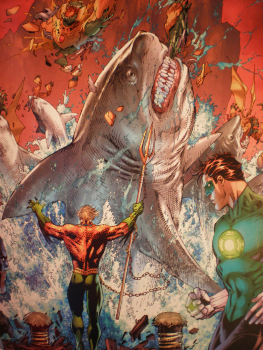 This is the first time Aquaman's ability to talk to fish has ever been cool.