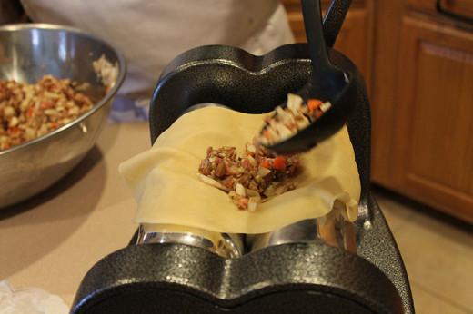 Making a meat pie