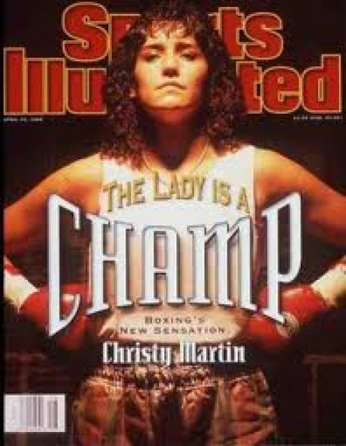 Christy Martin on the cover of Sports Illustrated. The Coal Miners Daughter as she was called helped to make Women's boxing popular.