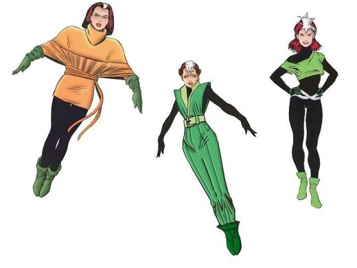 Different Rogue Costumes after Secret Wars