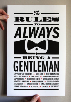 Learning to be a Gentleman