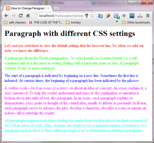 colorful paragraphs