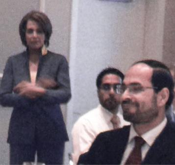 Pelosi with  Awad at fund raiser