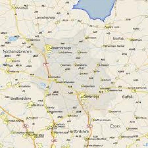 Cambridgeshir Map