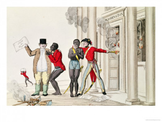 Modern Philanthropy, Cartoon about English/American Reaction to France's Abolition of Slavery, 1794