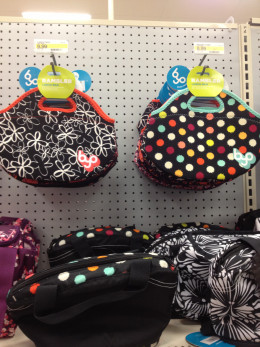 These purse-like lunch bags are popular with older elementary girls.