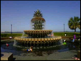 Pineapple Fountain Charleston Waterfront Park  Charleston, South Carolina