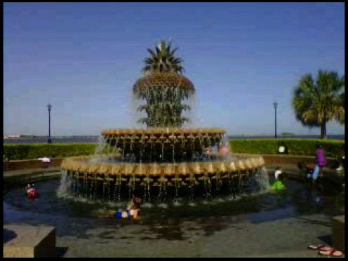 Pineapple Fountain Charleston Waterfront Park  Charleston, South Carolina