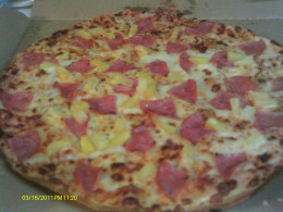 Nontraditional:  Hawaiian Pizza with pineapple and ham.  (My favorite)