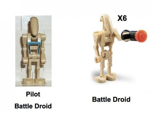 Lego Star Wars Battle Droid Carrier 7126 Minifigures
