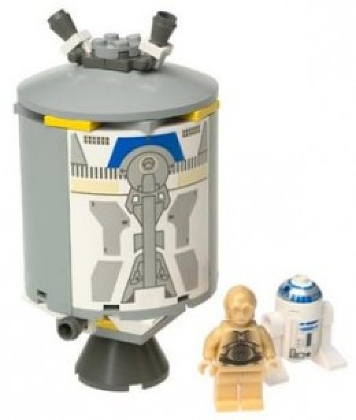 Lego Star Wars Droid Escape 7106 Assembled