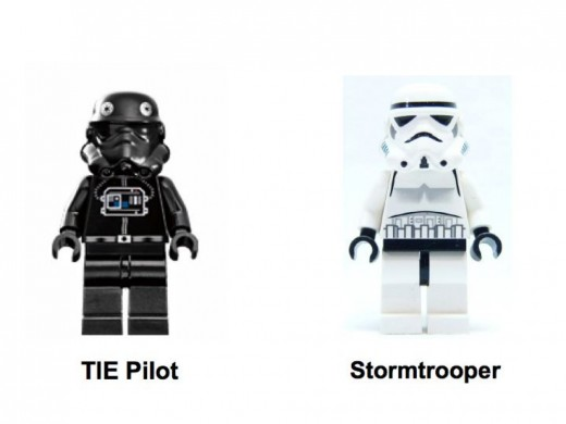 Lego Star Wars  TIE Fighter 7146 Minifigures