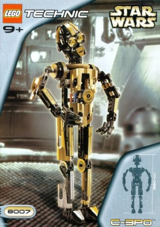 Lego Star Wars Technic C-3PO 8007 Box