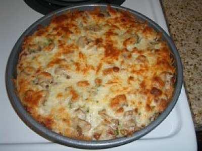 Baked Spaghetti Pizza