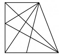How many different triangles can you spot in the figure below?