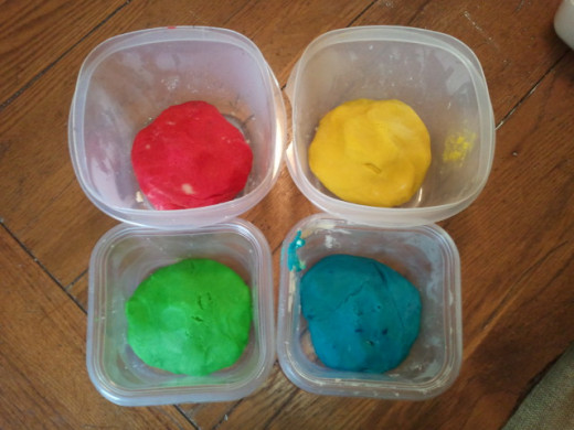 This is the finished Crazy Creative Colorful Cookie dough after adding Betty Crocker Classic Gel Food Colors. The intensity of colors can be controlled by the amount used.