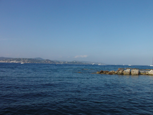 View from tour du portalet, Saint Tropez