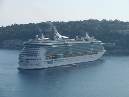 Cruise near Villefranche sur mer