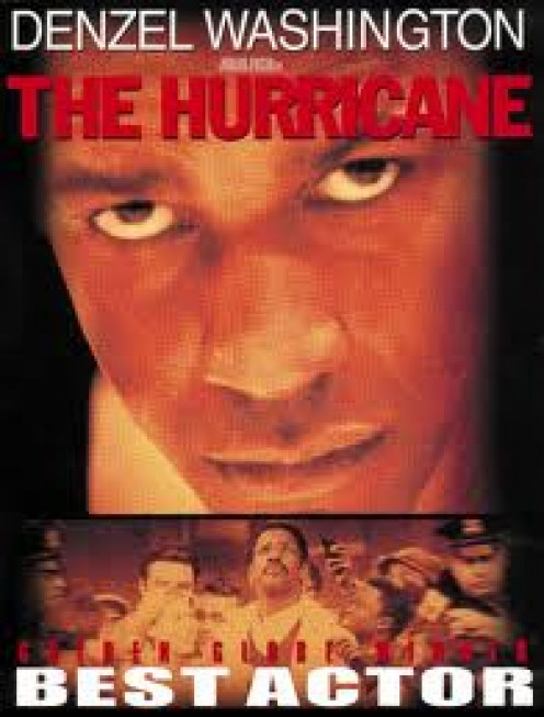 The Hurricane was about boxer Rubin Carter and stars Denzel Washington as the boxer who was found guilty of a murder he did not do and spent twenty years in prison.