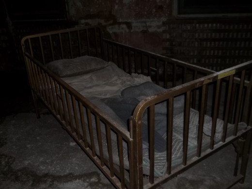 Old crib at the Pennhurst Asylum