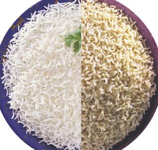 Brown rice much healthier then white rice.