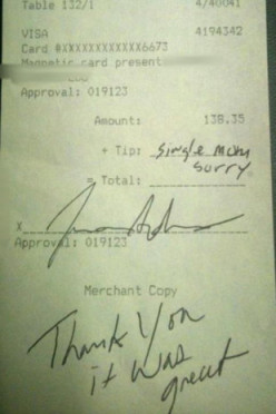 What would you do if you receive an excuse instead of a tip?