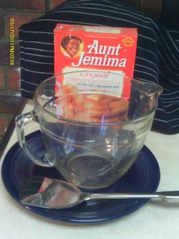 Sunday morning: pancake breakfast