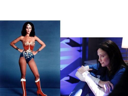 Linda Carter as Wonder Woman and Moira Sullivan