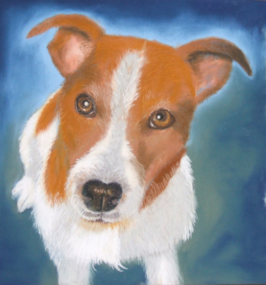 Archie, using Unison pastels and Faber Castell Pitt pencils