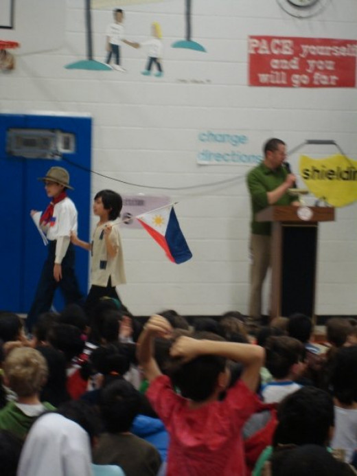 Freedom Hill Elementary School International Day. Ciaran is representing Philippines.