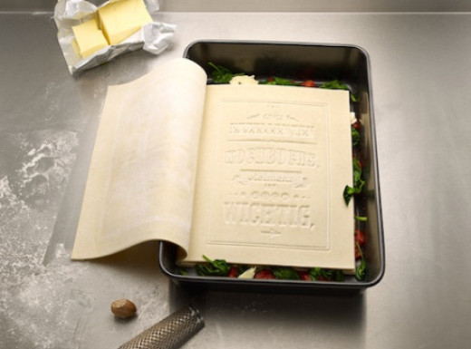 You can open each layer and read The Real Cookbook