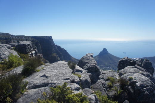 Great views of Cape Town from the top