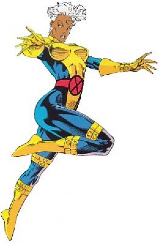 Storm Blue and Gold Costume