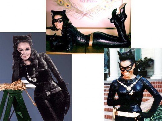 Julie Newmar, Lee Merlwether, Eartha Kitt as Catwoman