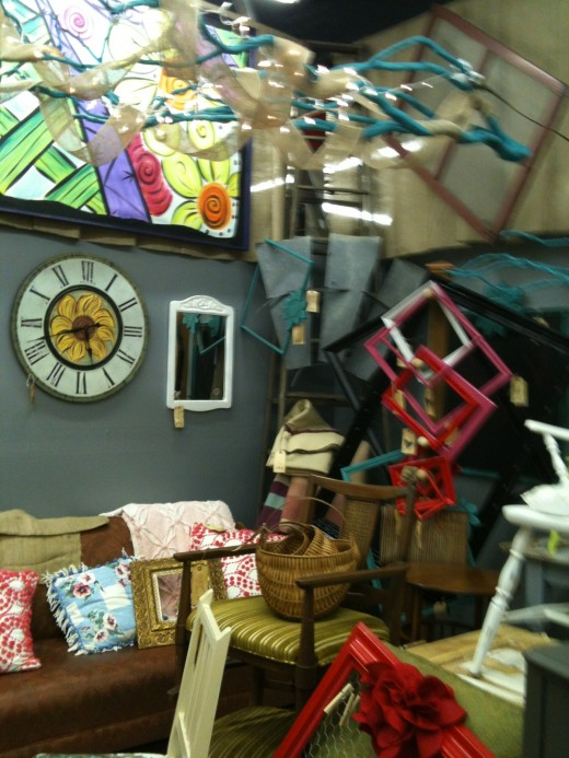 My Favorite booth where items are painted fantastic colors.