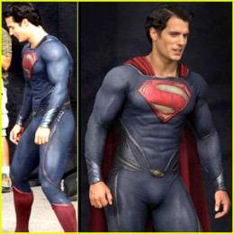Henry Cavill models the new Superman suit