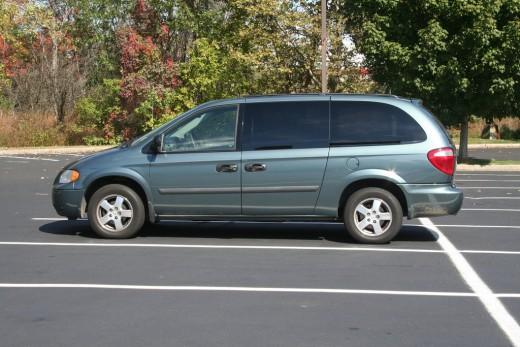 This older Dodge Caravan can transport seven people.  How often do you transport seven people?