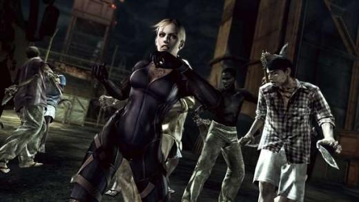Screen shot of Jill Valentine in Resident Evil 5