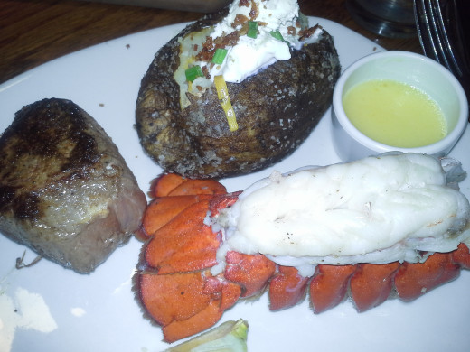 Outback Steakhouse Sirloin and Lobstertail