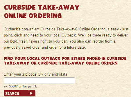 They offer Curbside Take-Away service. You can order by phone or online and pick up the meal on your way home.