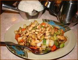 """""""Go-to"""" selection of Kung Pow Chicken."""
