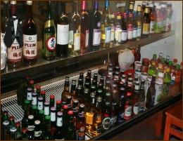 Chinese Plum Wine and Tsing Tsao Beer as well as local favorites.