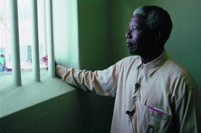 Nelson mandela the most famous guest on Robben Island