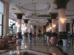 The beautiful lobby of the Riu Palace Las Americas, Cancun, Mexico
