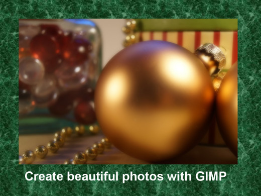 You can improve your photos with GIMP