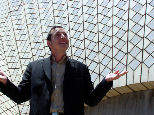 Robert Michael Leslie-Carter, a British Engineer and Project Manager, at the Sydney Opera House, September 5, 2003.