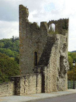 "Luxembourg Fortress: ""Huelen Zant"" - Remains of one of the two towers of one of the gates of the fortress"