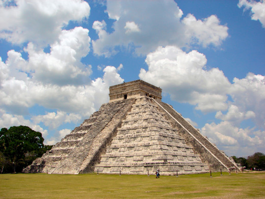 El Castillo, The Castle, the great pyramid at Chichen Itza.